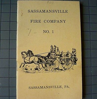 Vintage Booklet Sassamansville, PA Fire Co. No.1 Constitution - 1960