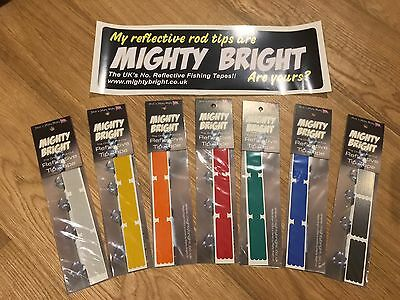 "2"" / 50mm Mighty Bright Reflective tip tape for sea fishing rod ORIGINAL RANGE"
