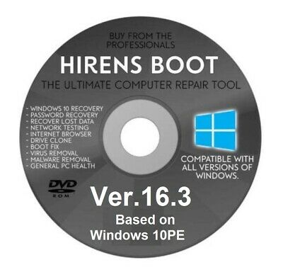 HIRENS BOOTCD PE DVD - Repair DVD - Based on Windows 10 PE 64-Bit