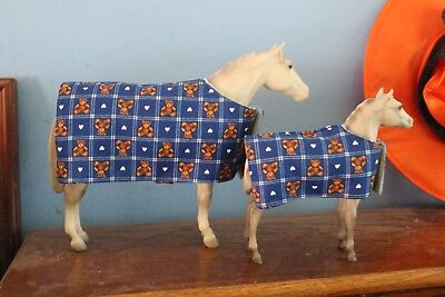 Breyer Lady Phase Watchful Mare & Foal Model Horses With Horse Blankets