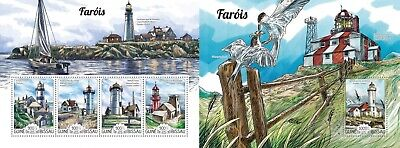 Z08 IMPERFORATED GB15207ab GUINEA-BISSAU 2015 Lighthouses MNH ** Postfrisch Set