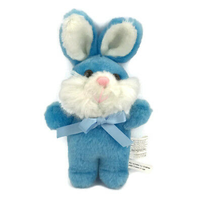 "Bunny Rabbit Blue Small Joelson Industries 9"" Tall  Vtg 1990s"