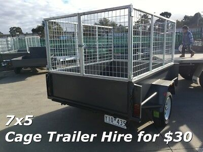 7X5 TRAILER HIRE FOR ONLY $30.00 A DAY - Heaps of trailers for rent !!!