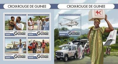 Z08 IMPERFORATED GU16524ab GUINEA Rep. (Guinee) 2016 Red Cross MNH Set
