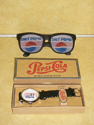 Old Pepsi Can Steel Watch Sun Glasses Leatherman Knife Pop Bottle Glass Diet Vtg