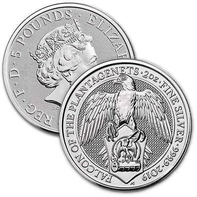2019 Queens Beast FALCON of the Plantagenets British Silver Coin 2oz