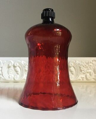 Homco Ruby Red Votive Glass Candle Holder