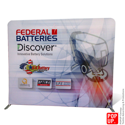 8ft Custom Printed Tension Fabric Backdrop Wall Cover Only Single Side Print