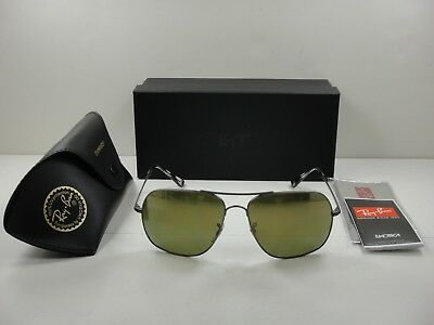 773e4b4db26 Ray-Ban Chromance Polarized Sunglasses Rb3587Ch 029 6O Green Mirror Lens  61Mm