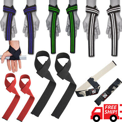 Power Weight Lifting Training Bar Straps Gym Hand Wrist Support Crossfit Cotton