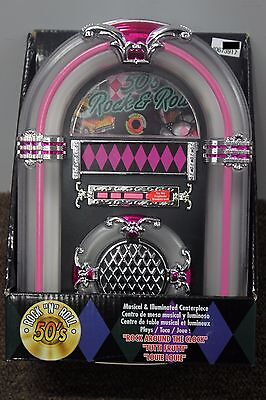 50s ROCK N ROLL TABLETOP JUKEBOX Musical Collectible Wurlitzer Nostalgic NEW