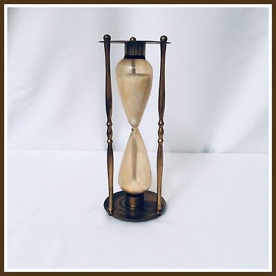 Vintage Brass Hourglass Sand Timer