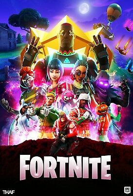 1 FORTNITE infinity war poster Vinyl Art print battle royal game map character E