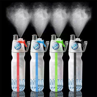 500ml Cycling Water Drink Bottle Mist Spray Portable Outdoor Sports Gym Cup AU