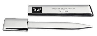 Engraved Letter Opener Optional Text Printed Name - Francis