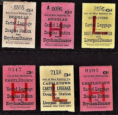 IMR Isle of Man Railway Carted & Passengers Luggage in Advance adhesive stamps
