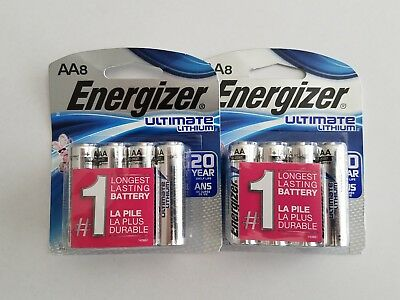 Energizer Aa Ultimate Lithium Batteries/ Lot Of 16