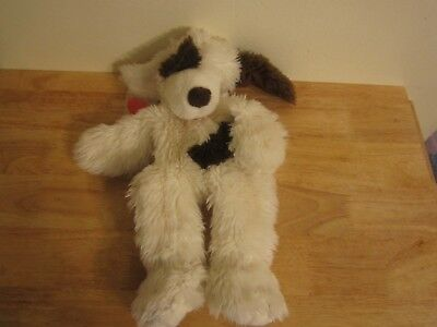 build a bear unstuffed white dog with spot and heart 16''