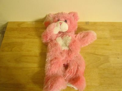 build a bear unstuffed fur pink bear with white heart magnet hand and heart 16''
