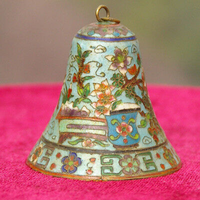 Intricate Priental Patterned Cloisonne Bell