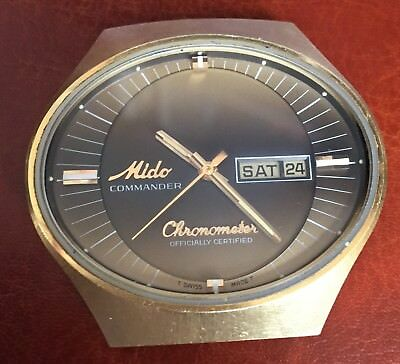 RARE Vintage MIDO Commander Oval Case Automatic Watch