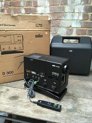Vintage Braun D300 Straight Tray Slide Projector Will Wetzlar Maginon 1:2.8 85mm