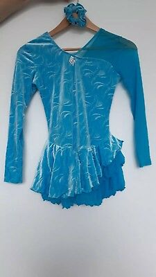 Blue ice skating dress (Used) Age 10