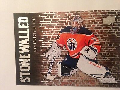 2018-2019 Upper Deck Series 1 Cam Talbot Stonewalled # SW-26
