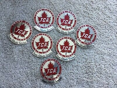 Vintage TRANS-CANADA AIR LINES Luggage Tag Stickers, PRISTINE