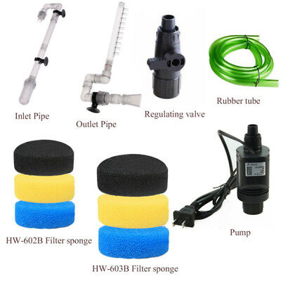 HW-602B/HW-603B Inflow Outflow Tube Pipe Aquarium External Canister Filter Parts
