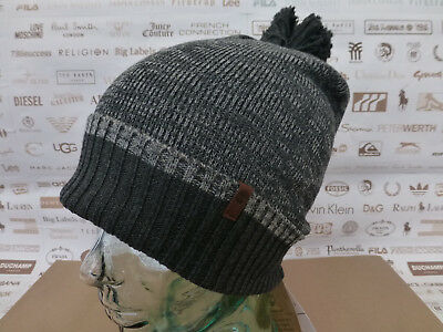 215c04d6074 LACOSTE TURN UP Ribbed Wool Beanie Hat - Grey Stone - BNWT - £34.95 ...