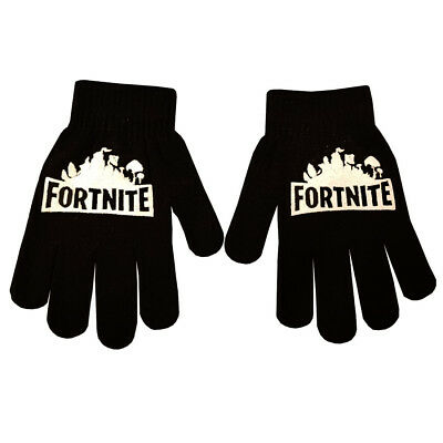 Boys Girl Teenager Fortnite Magic Gloves Ages From 3 -16 Black Winter Cool