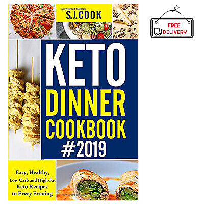 Keto Diet Cookbook Dinner Beginners Ketogenic Diets Recipes Book Paperback NEW