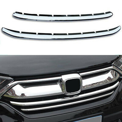Front Bottom Grille Grill Cover Trim for 2017-2018 Honda CRV CR-V 2pcs