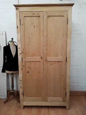 Striking Rare Large Antique French Stripped Pine Filing Cabinet Cupboard - C1900