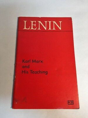 Rare Lenin Karl Marx And His Teaching Imported Publications USSR