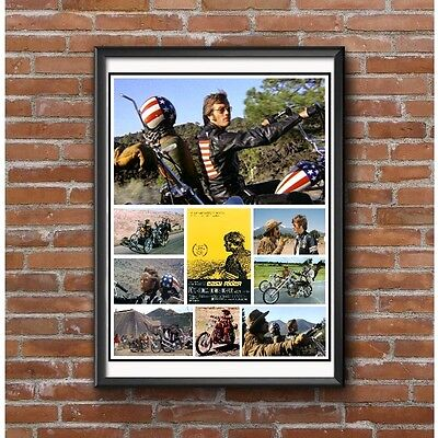 Easy Rider Collage Poster - 1969 Cult Classic Motorcycle Film