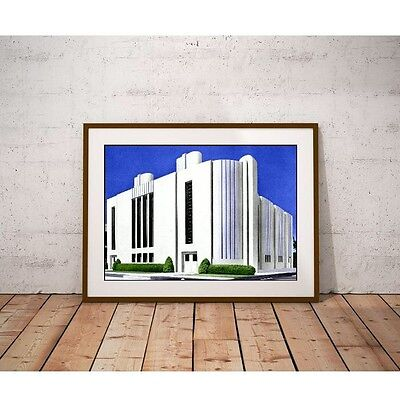 Streamlined Moderne Art Deco Architecture Factory from 1937 Poster
