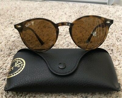 7a91077ecd RAY-BAN RB2180 710 83 POLARIZED Tortorise Frame Round Sunglasses