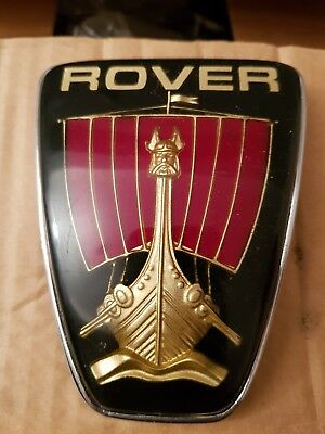 115 Vintage Garage Spares Rover Old Classic Car Badge Small Metal Tin Sign