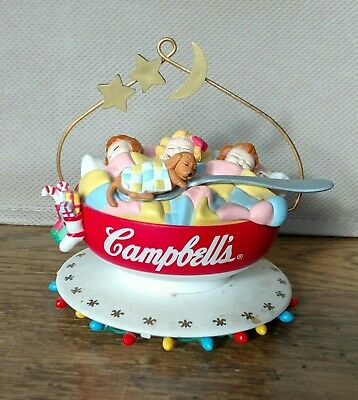 Campbells Soup Kids Ornament Kids Sleeping In Bowl 1993