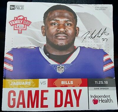 b7ebb4770 BUFFALO BILLS Gameday Program TREDAVIOUS WHITE 11 25 18 Jaguars 2018 jersey  tre