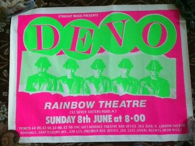 DEVO - Mega Concert Poster, Rainbow Theatre, London, Freedom of Choice Tour 1980