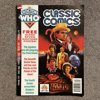 Doctor Who Magazine Classic Comics Issue 14 VGC & Poster December 1993 Marvel