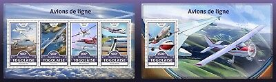 Z08 Imperf. TG16601ab Togo 2016 Airliners MNH Mint Set