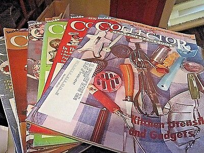 "Lot of Six ""Antique Trader's Collector"" Magazine's and Price Guide 1997 and 1998"