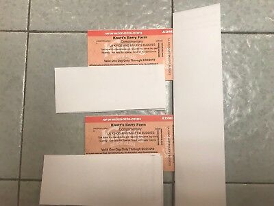 Two (2) Knotts Berry Farm Adult/Child (1 Day) Admission Ticket Expires 6/30/2019