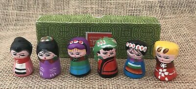 Vintage Tiny Japanese Clay Figures New (Old Stock) (6)To A Box