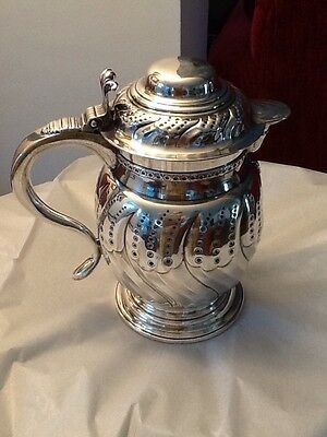 TIFFANY & Co. 19th C. STERLING SILVER PITCHER/TANKARD/FLAGON