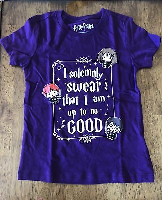 Girls' Harry Potter Character Hogwarts I Solemnly Swear Purple Official T-Shirt